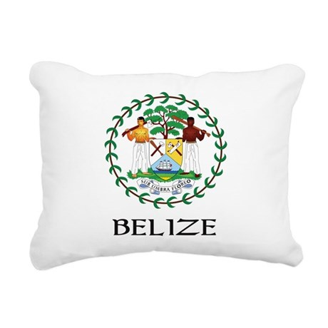 Coat of arms of Belize Rectangular Canvas Pillow