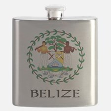 Coat of arms of Belize Flask