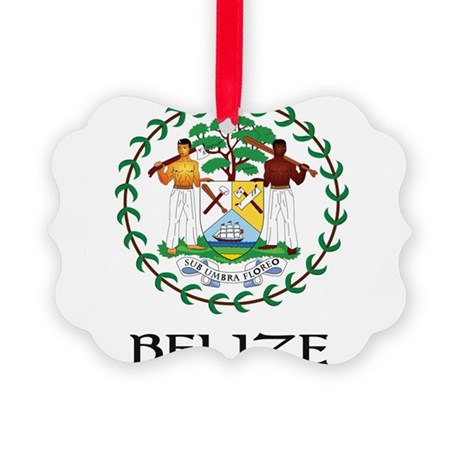 Coat of arms of Belize Picture Ornament