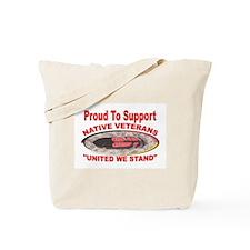 NATIVE VETERAN ACCESSORIES Tote Bag