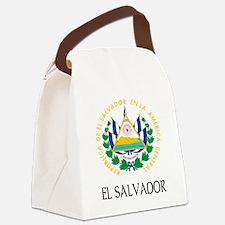 Coat of Arms of El Salvador Canvas Lunch Bag