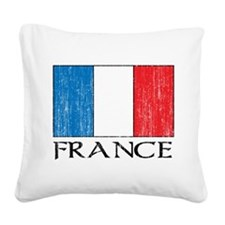 France Flag Square Canvas Pillow