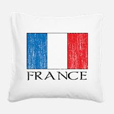 France Flag Square Canvas Pillow