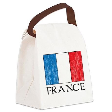 France Flag Canvas Lunch Bag