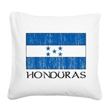 Honduras Flag Square Canvas Pillow