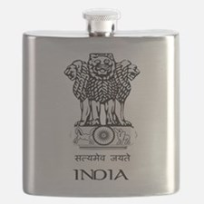 Emblem of India Flask