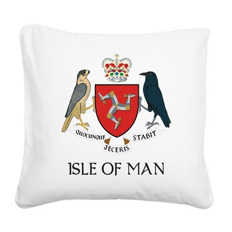 Isle of Man coat of arms Square Canvas Pillow