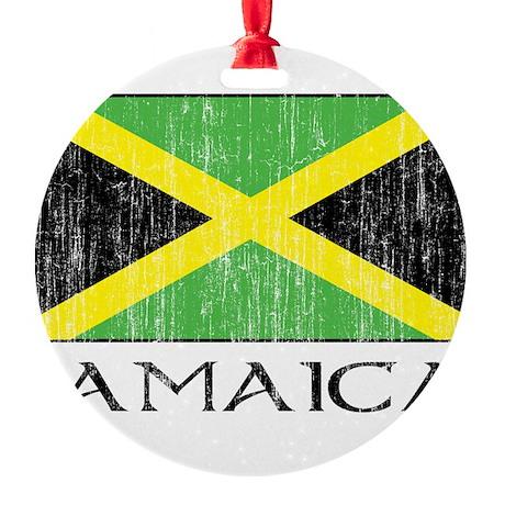 Jamaica Flag Round Ornament