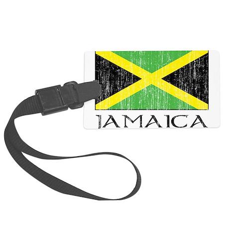 Jamaica Flag Large Luggage Tag