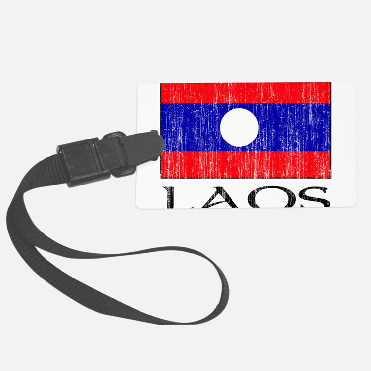 Laos Flag Luggage Tag