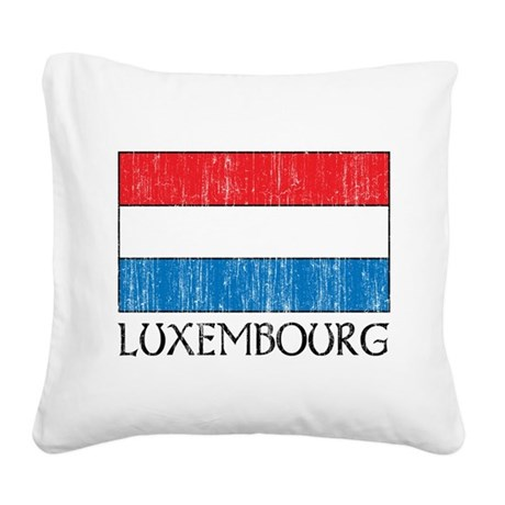 Luxembourg Flag Square Canvas Pillow