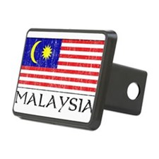 Malaysia Flag Rectangular Hitch Cover