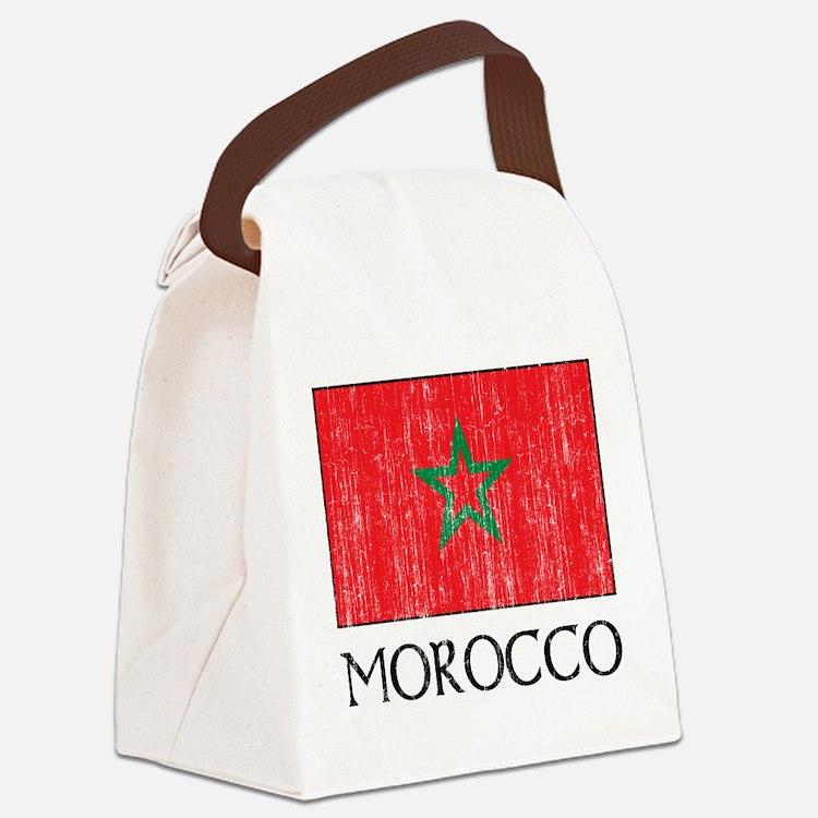 Morocco Flag Canvas Lunch Bag