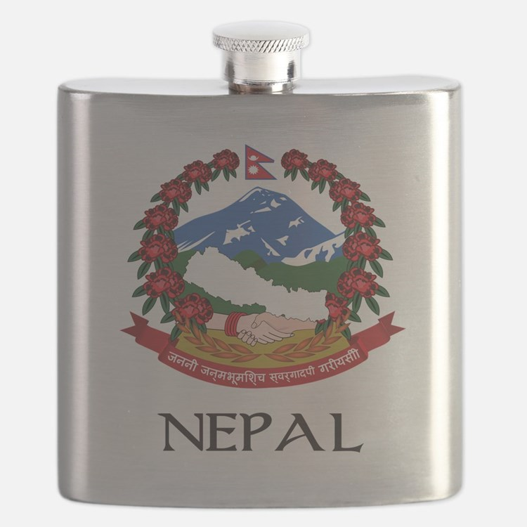 Coat of arms of_Nepal Flask