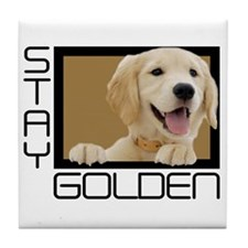 Stay Golden Tile Coaster