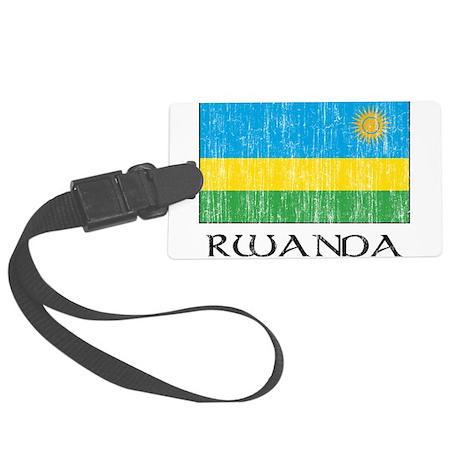 Rwanda Large Luggage Tag