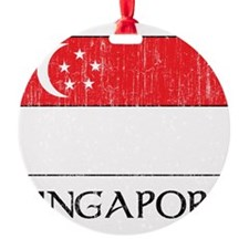 Singapore Flag Round Ornament