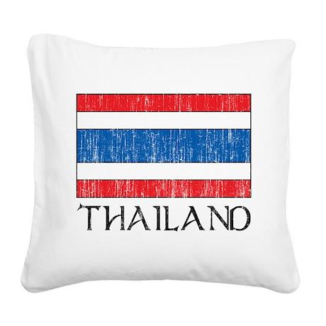 Thailand Flag Square Canvas Pillow