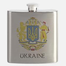 Coat of Arms of Ukraine Flask