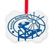 Santa Barbara Passport Stamp Ornament