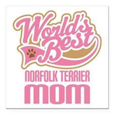 "Norfolk Terrier Mom Square Car Magnet 3"" x 3"""