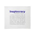 Ineptocracy Throw Blanket