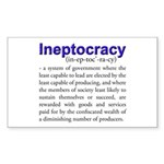 Ineptocracy Sticker (Rectangle 50 pk)