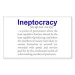 Ineptocracy Sticker (Rectangle)