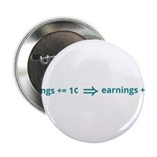 """A penny saved is a penny earned 2.25"""" Button"""