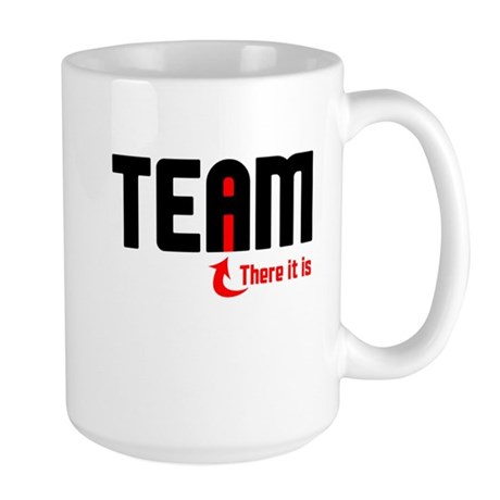 The I in TEAM Large Mug