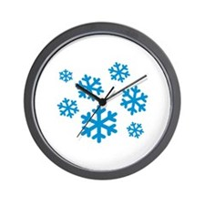 Snowflakes winter Wall Clock