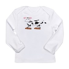 Cute Cow Shirt Long Sleeve Infant T-Shirt