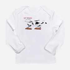 Cute Cow Shirt Long Sleeve Infant T-Shirt