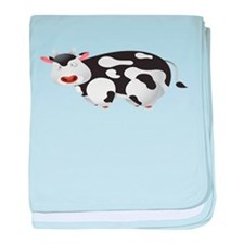 Fat Cow Shirt baby blanket