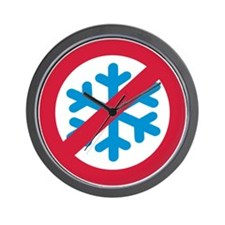 No winter snow Wall Clock