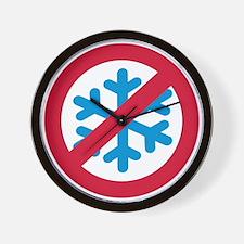 No winter snow Wall Clock