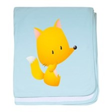 Yellow Fox for Kids Shirt baby blanket
