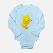Yellow Fox for Kids Shirt Long Sleeve Infant Bodys