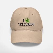 I Love Cannabis Telluride Colorado Baseball Baseball Cap