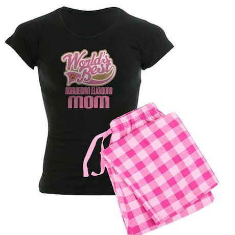 Norwegian Elkhound Mom Women's Dark Pajamas