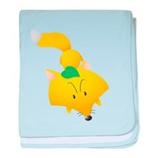 Yello Fox Shirt baby blanket