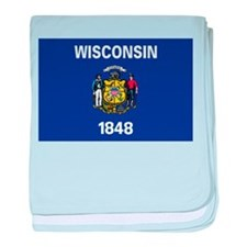 Wisconsin State Flag baby blanket