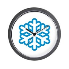Snowflake winter Wall Clock