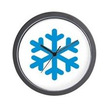 Blue snowflake Wall Clock