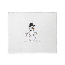 snowman.jpg Throw Blanket