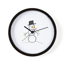 snowman.jpg Wall Clock