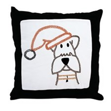 xmas dog.jpg Throw Pillow