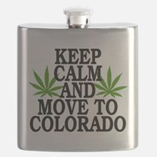 Keep Calm And Move To Colorado Flask