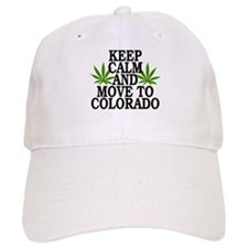 Keep Calm And Move To Colorado Baseball Cap