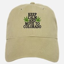 Keep Calm And Move To Colorado Baseball Baseball Cap